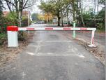 Zufahrt Krematorium über Sprechanlage und Transponderleser