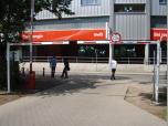 Höhenbrenzung mit Verriegelung am Bremer Weserstadion